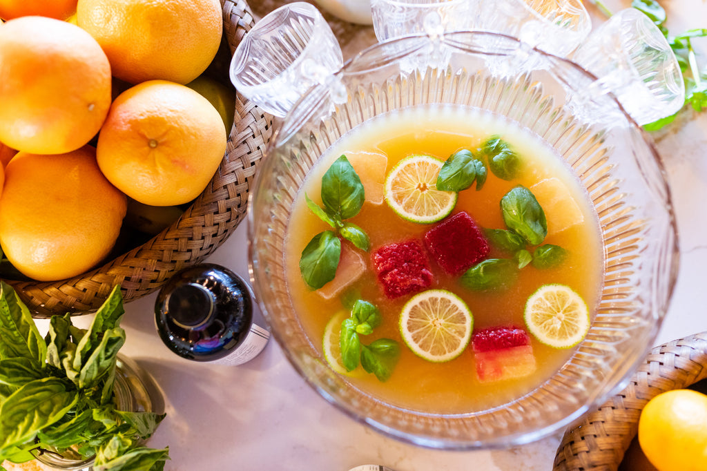 Make spring punch for Easter Brunch with Iconic Lime Leaf Tonic and Bitter Orange Tonic