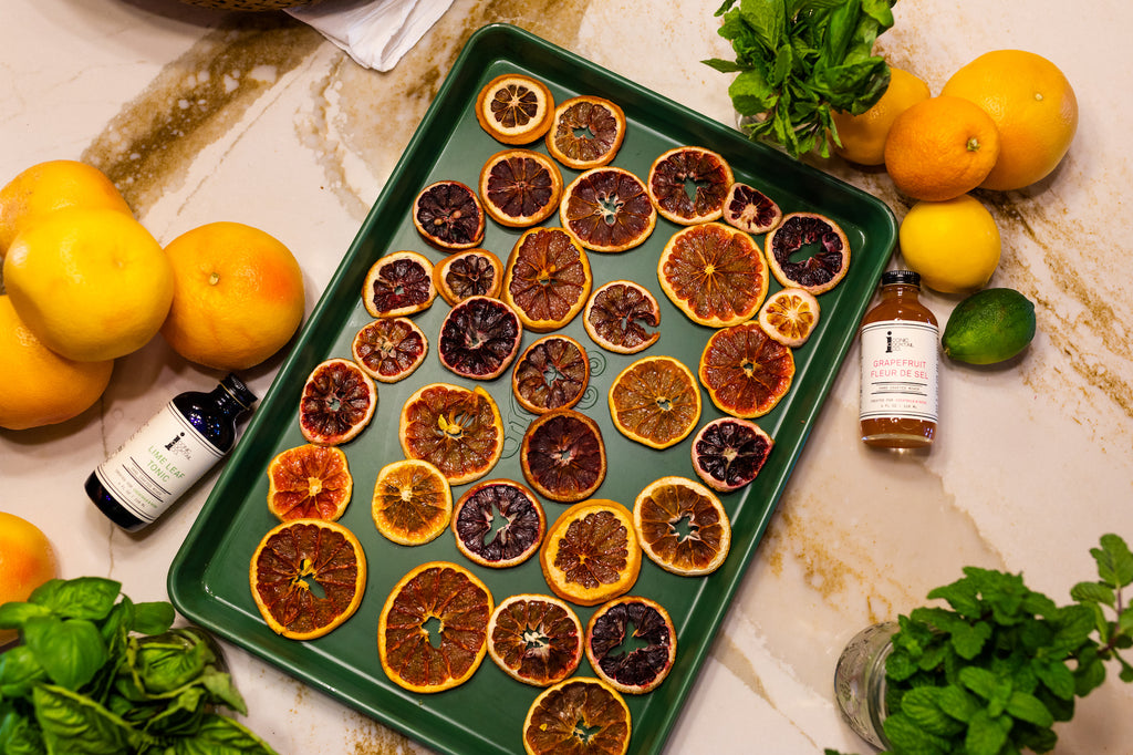 Learn how to make dehydrate citrus to create stunning cocktail garnishes!
