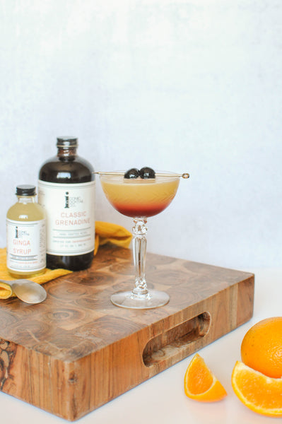 A well made ginger syrup can balance out sweetness of ingredients like orange juice and grenadine. Iconic's Ginga Syrup is the perfect ingredient to add to your home bar! Find a bottle at www.iconiccocktail.com!