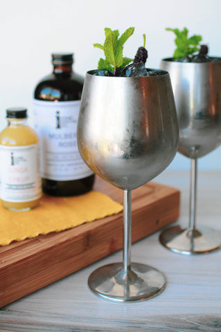 Mulberry Moscow Mule made with Iconic Ginga Syrup and Mulberry Rose