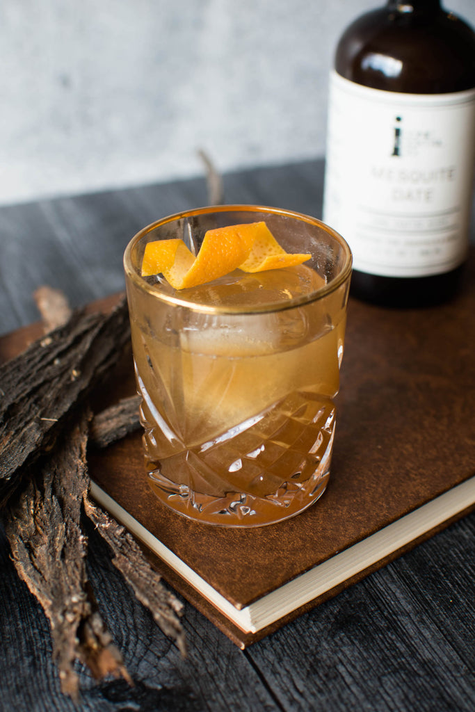 Bourbon cocktail made with Iconic Mesquite Date