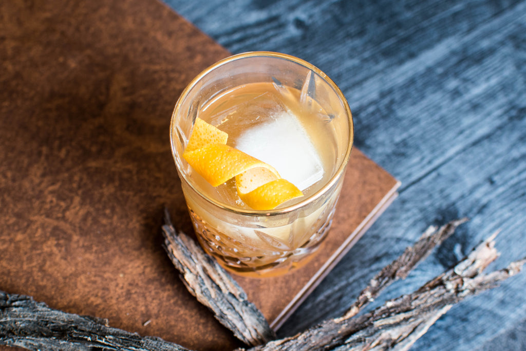 A bourbon cocktail made with Iconic Mesquite Date perfect for Thanksgiving