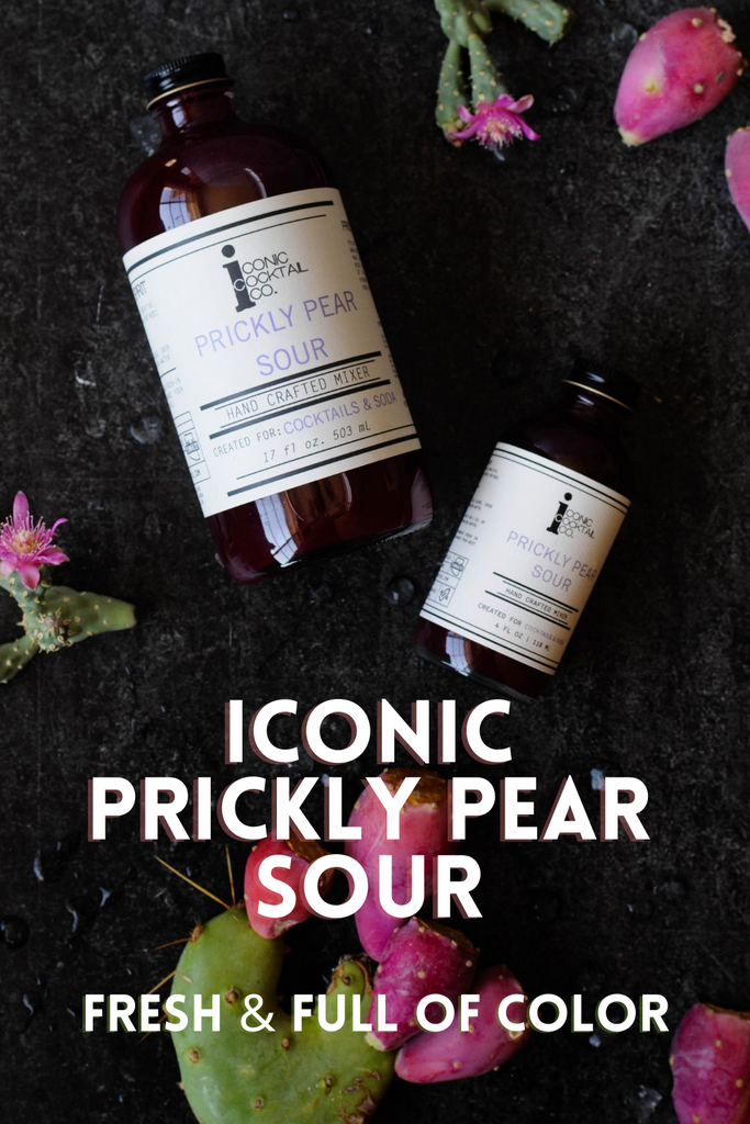 Small batch Prickly Pear cocktail mixer made by Iconic Cocktail Co.