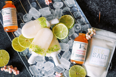 Grapefruit Paloma Popsicle with Grapefruit Fleur de Sel