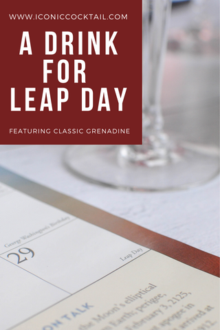 classic grenadine leap day cocktail