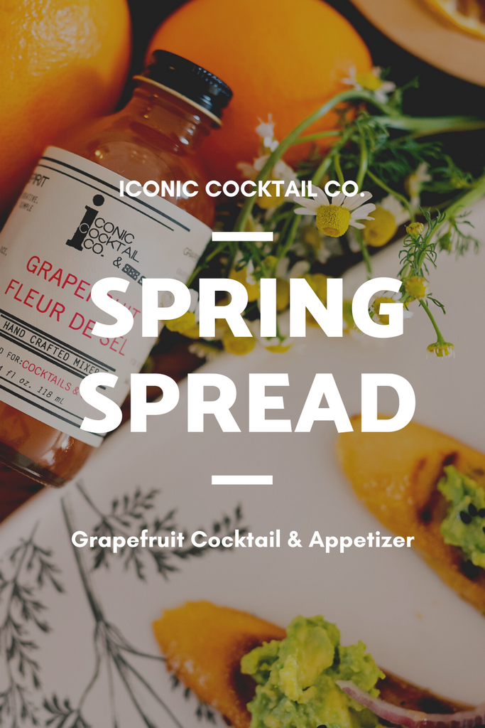 A Spring Spread with Grapefruit Cocktails and Appetizer