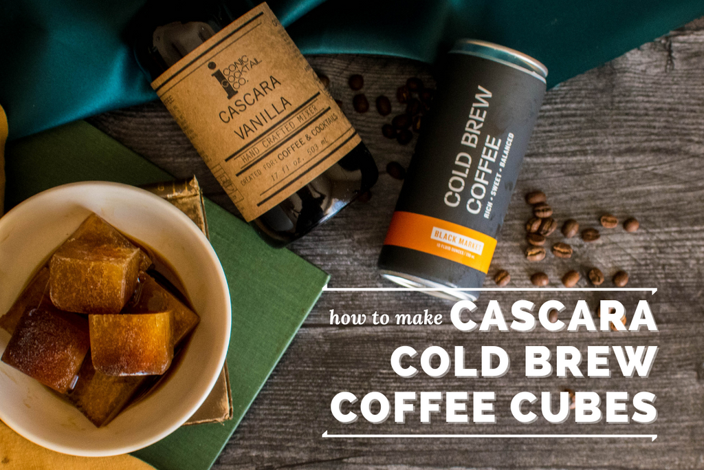 how to make cascara vanilla cold brew supercubes with Cartel Coffee