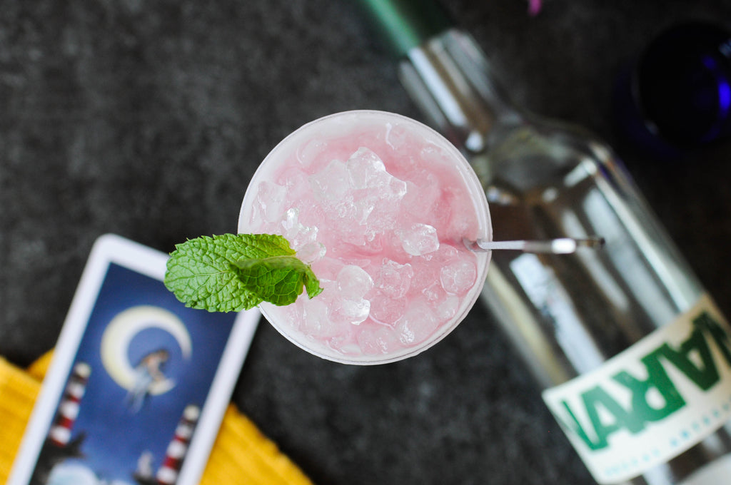 Made with Arizona's new brand, Mezcal Naran (meaning moonlight) this swizzle is refreshing yet satisfyingly smokey.