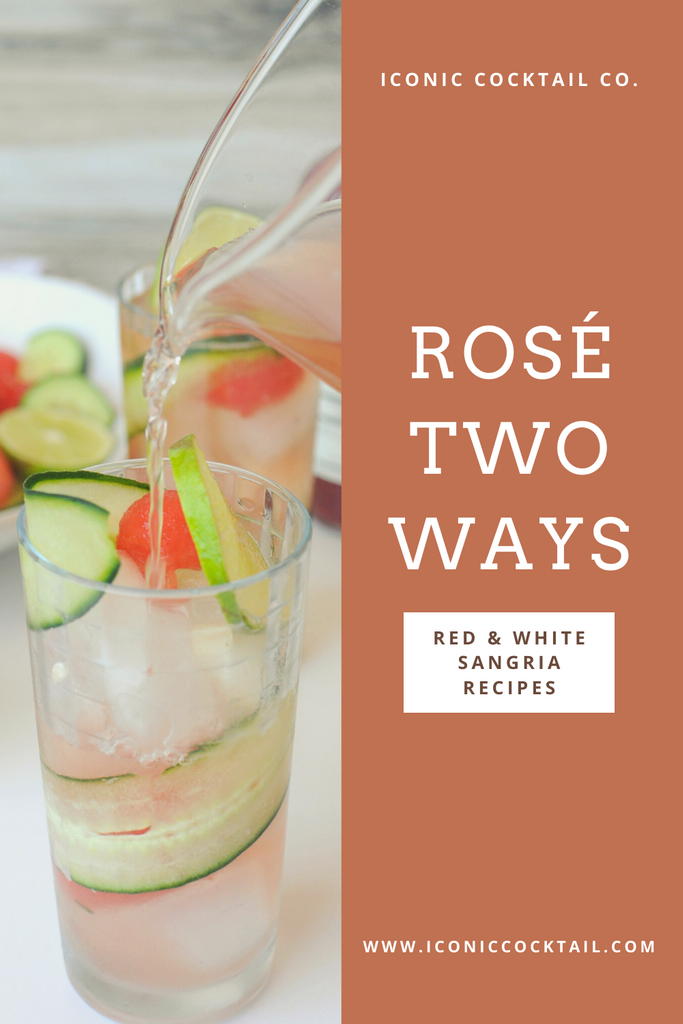 Red and white Rose sangria recipes