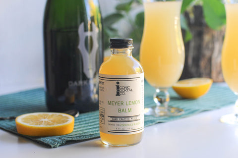 Iconic Cocktail Mimosa recipe with Iconic Meyer Lemon Balm