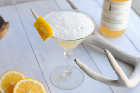 Whiskey sour with Iconic Cocktail Co Meyer Lemon Balm