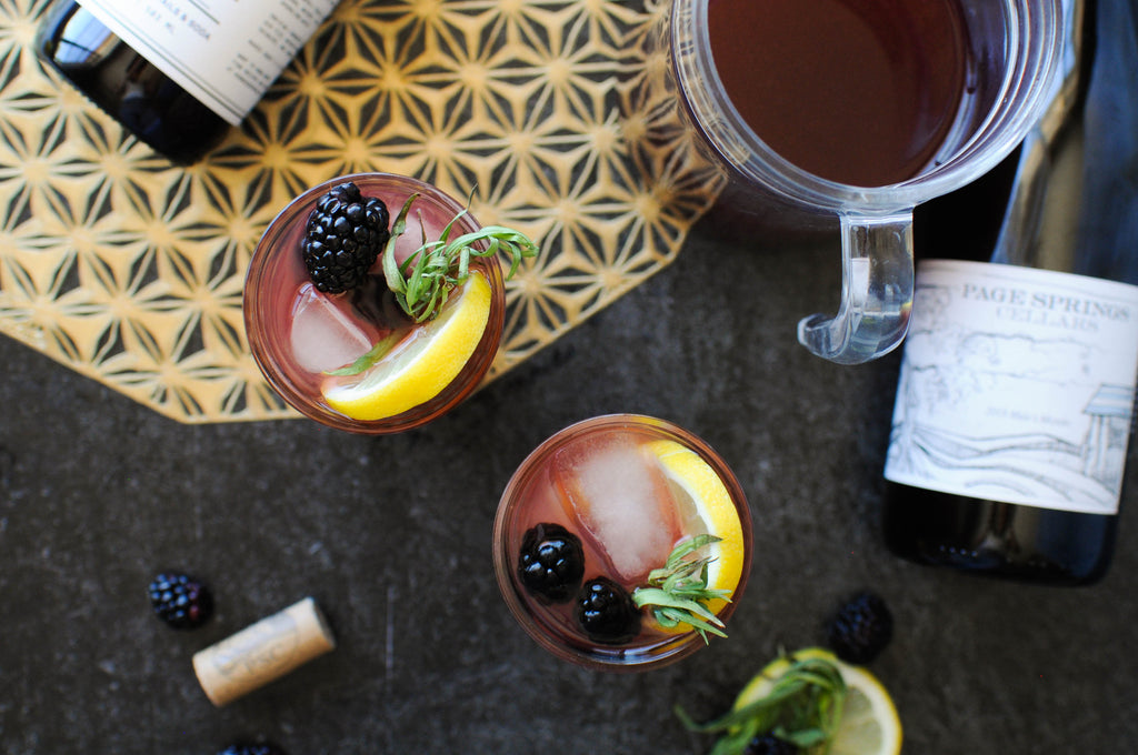 red sangria recipe made with iconic mulberry rose