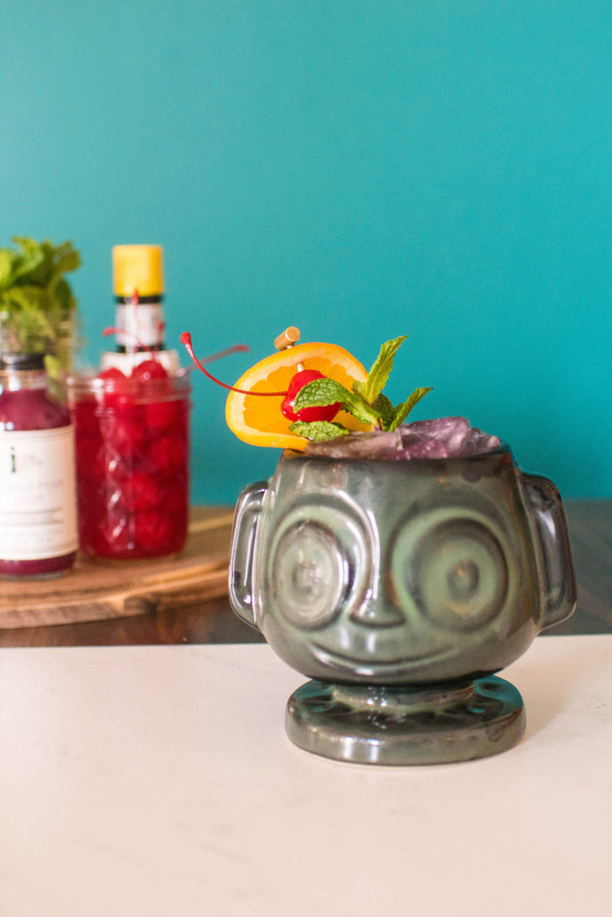 Make this prickly pear cocktail for the ultimate Tiki experience! Find all the right tiki flavors in one place with the Iconic Tiki Spirit Pack.