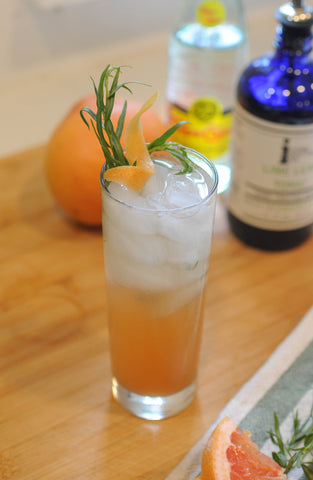 grapefruit tarragon lime leaf tonic mocktail