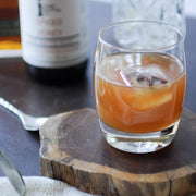 spiced honey old fashioned hot toddy mixer