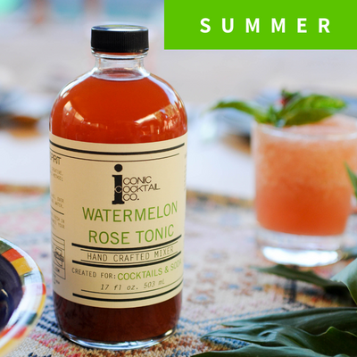summer cocktail mixer watermelon simple syrup