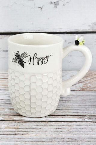 two charmed gals bee happy mug
