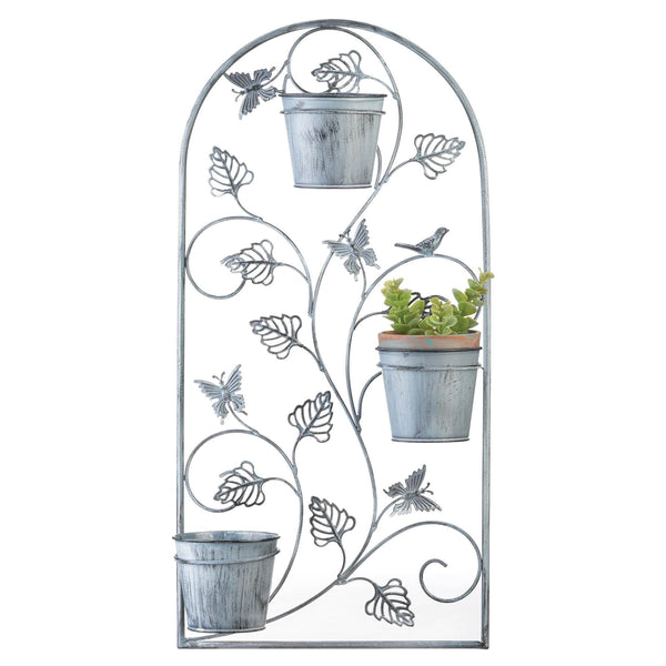 Garden Variety - Butterfly Trellis with Flower Pots