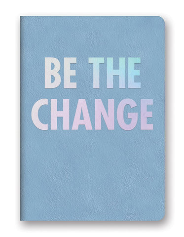 Studio Oh! - BE THE CHANGE Slate Blue - Medium Leatheresque Journal Holographic