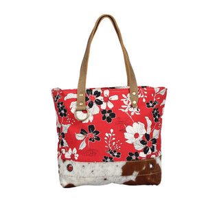 Myra Bag - Coral Flower Tote Bag