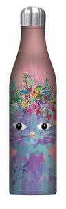 Studio Oh! - Fancy CAT - 25 oz. Insulated Stainless-Steel Water Bottle by Mia Charro