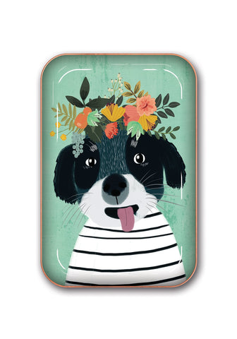 Studio Oh! - Fancy DOG - Medium Metal Catchall Tray by Mia Charro