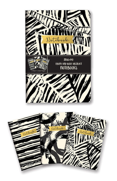 Studio Oh! - Ebony and Ivory Abstract Notebook Trio
