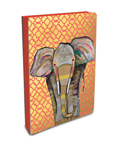 Studio Oh! - ELEPHANT Compact Coptic-Bound Journal - Majestic Elephant by Eli Halpin