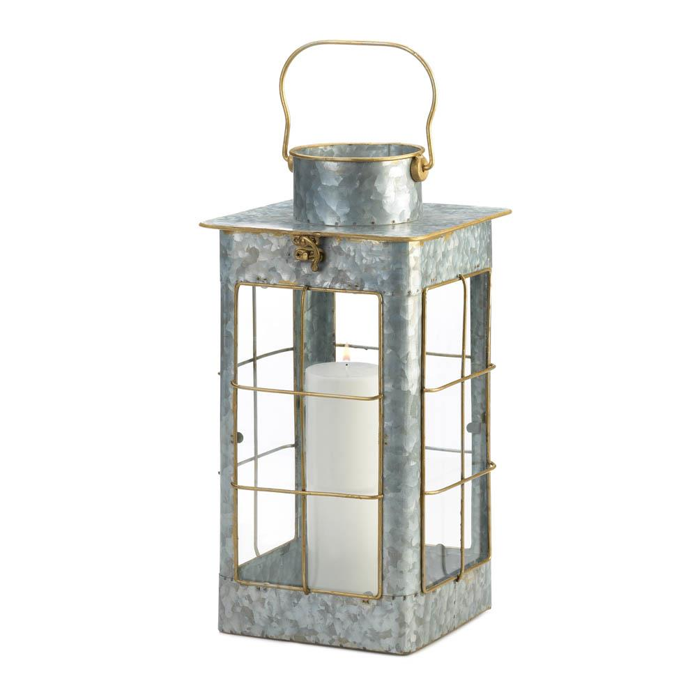 Two Charmed Gals Large Farmhouse Galvanized Lantern