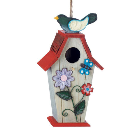 Two Charmed Gals Garden Birdie Birdhouse