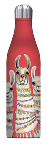 Studio Oh! - LLAMA Boho Trio, Eli Halin - 25 oz. Insulated Stainless-Steel Water Bottle