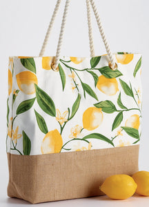 Sustainability - Lemon Bliss Printed Tote