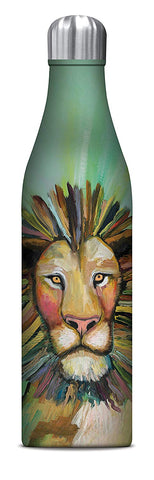 Studio Oh! - Majestic LION - 25 oz. Insulated Stainless-Steel Water Bottle by Eli Halin