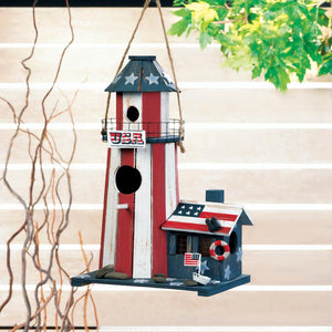 Two Charmed Gals Patriotic Birdhouse
