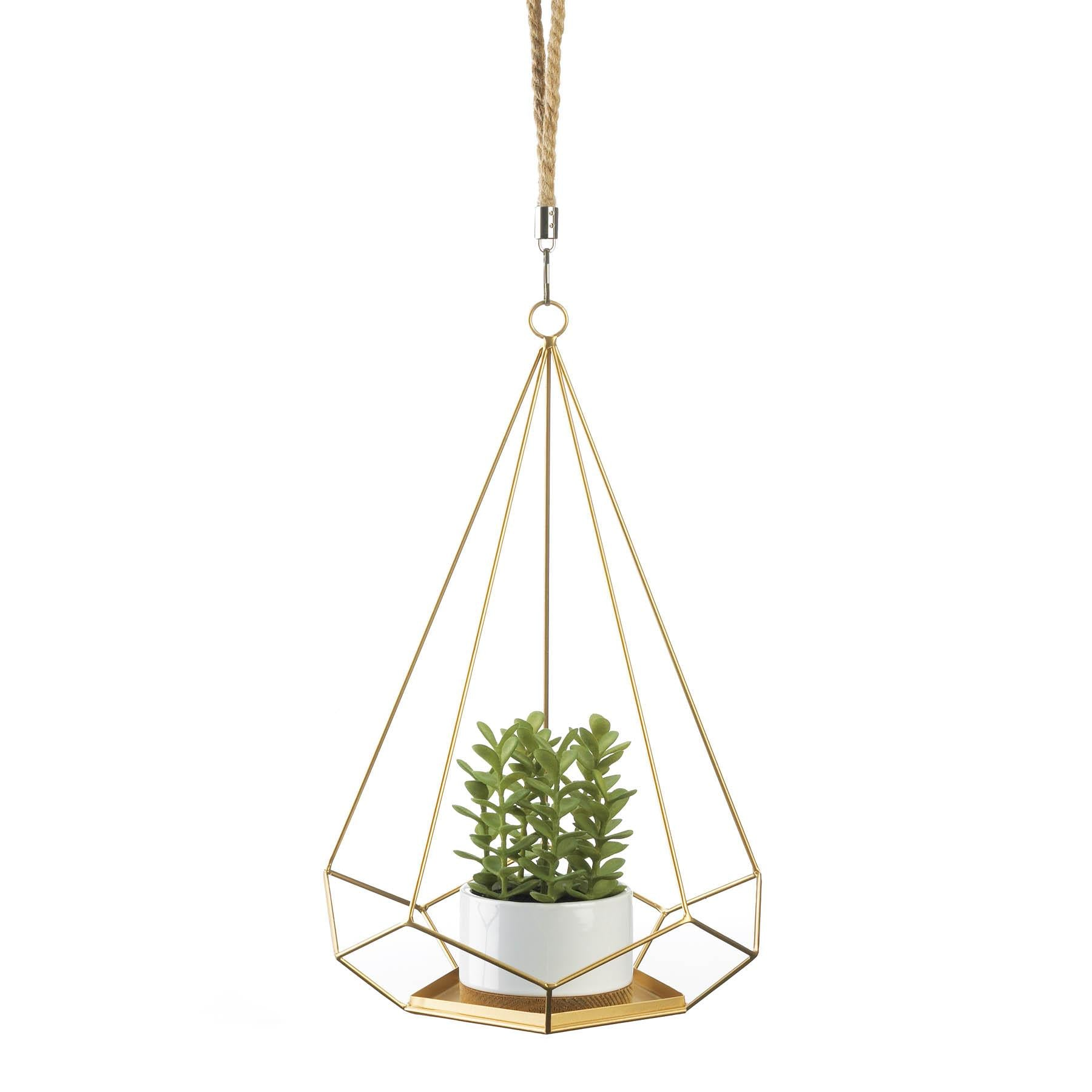 Two Charmed Gals Prism Hanging Plant Holder