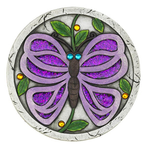 two charmed gals purple butterfly stepping stone
