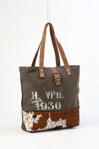 Myra Bag - Vintage 1930 Canvas Tote Bag