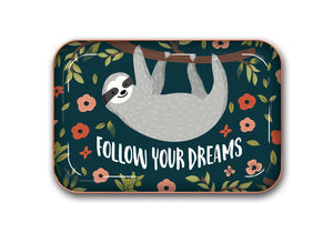 Studio Oh! - SLOTH Follow Your Dreams - Medium Metal Catchall Tray