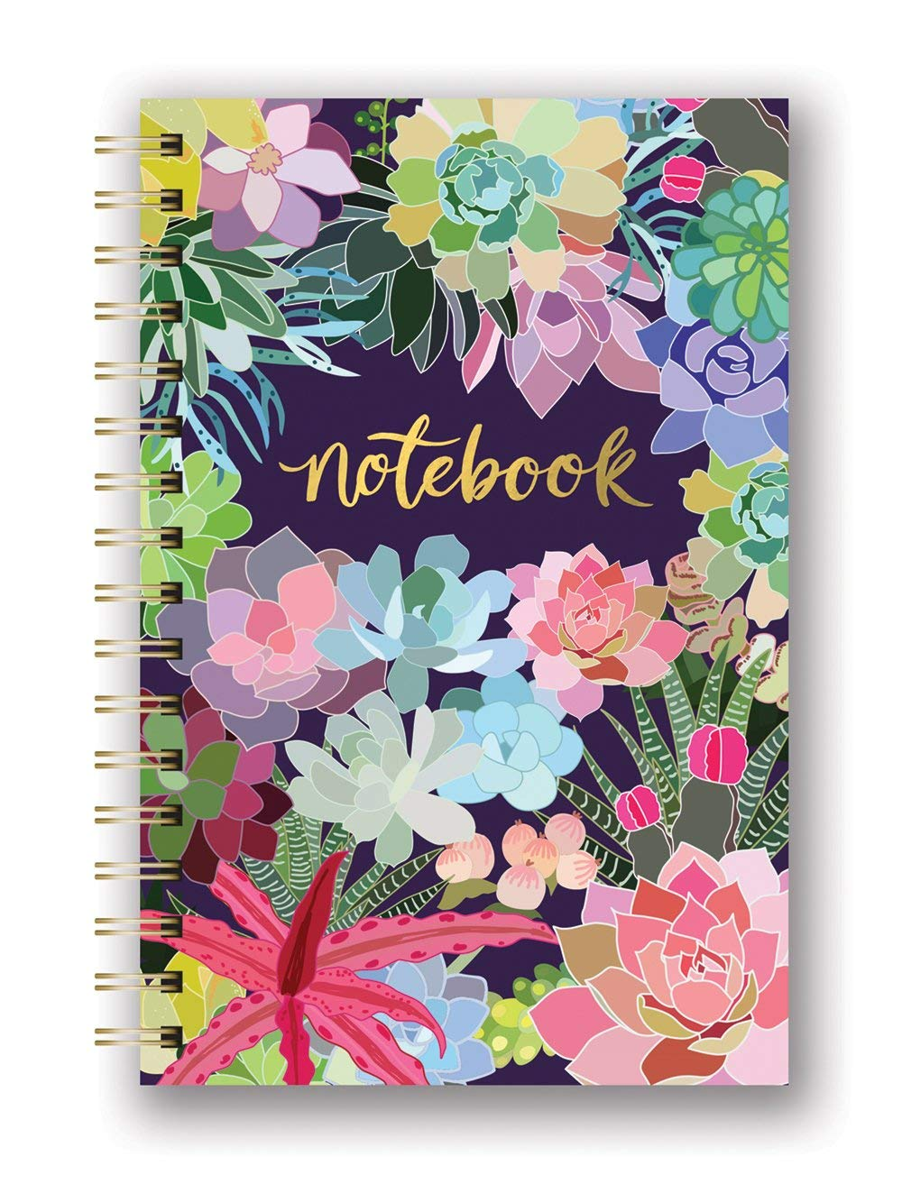 Studio Oh! - Succulent Paradise Spiral Notebook Medium Hardcover by Mia Charro