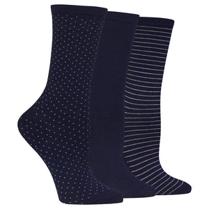 Hot Sox Women's Polka Dot Trouser Socks Three Pair Pack
