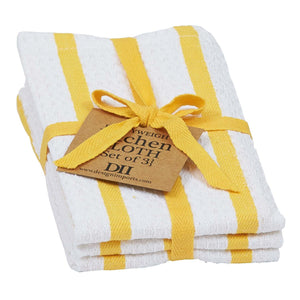 Bitchin' Kitchen - Kitchen Cloths - Yellow Stripes