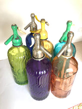 Load image into Gallery viewer, Brightly Coloured Spanish Seltzer Bottles 1930s