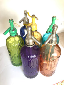 Brightly Coloured Spanish Seltzer Bottles 1930s