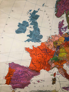 Massive Vintage Map of Europe