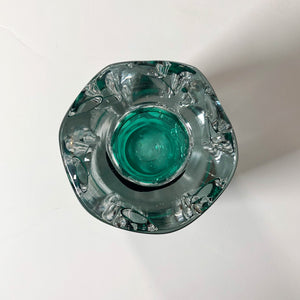 Liskeard Glass Green Vase, Jim Dyer, 1970s