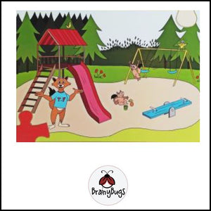 At the Playground 16 Piece Puzzle