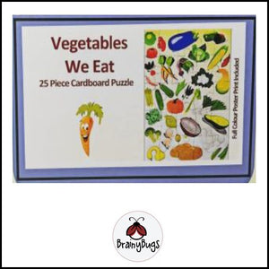 Vegetables we Eat 25 piece Puzzle
