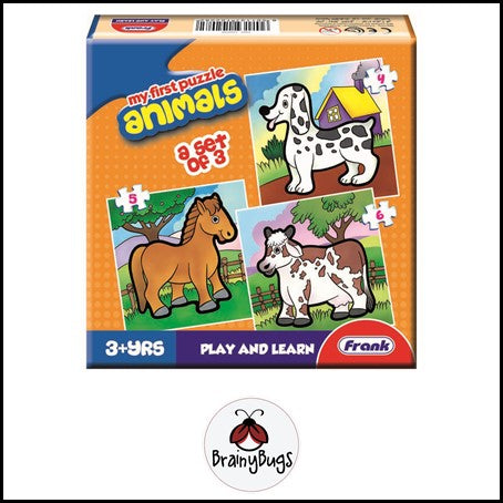 3 in 1 Puzzle - Animals