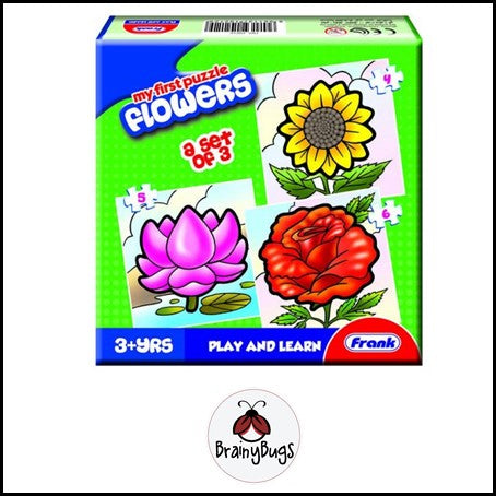 3 in 1 Puzzle - Flowers