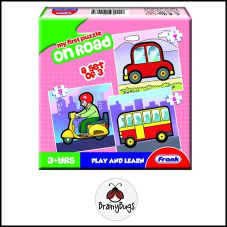 3 in 1 Puzzle - On Road